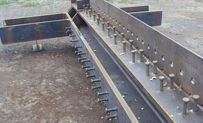 Steel structure cross column
